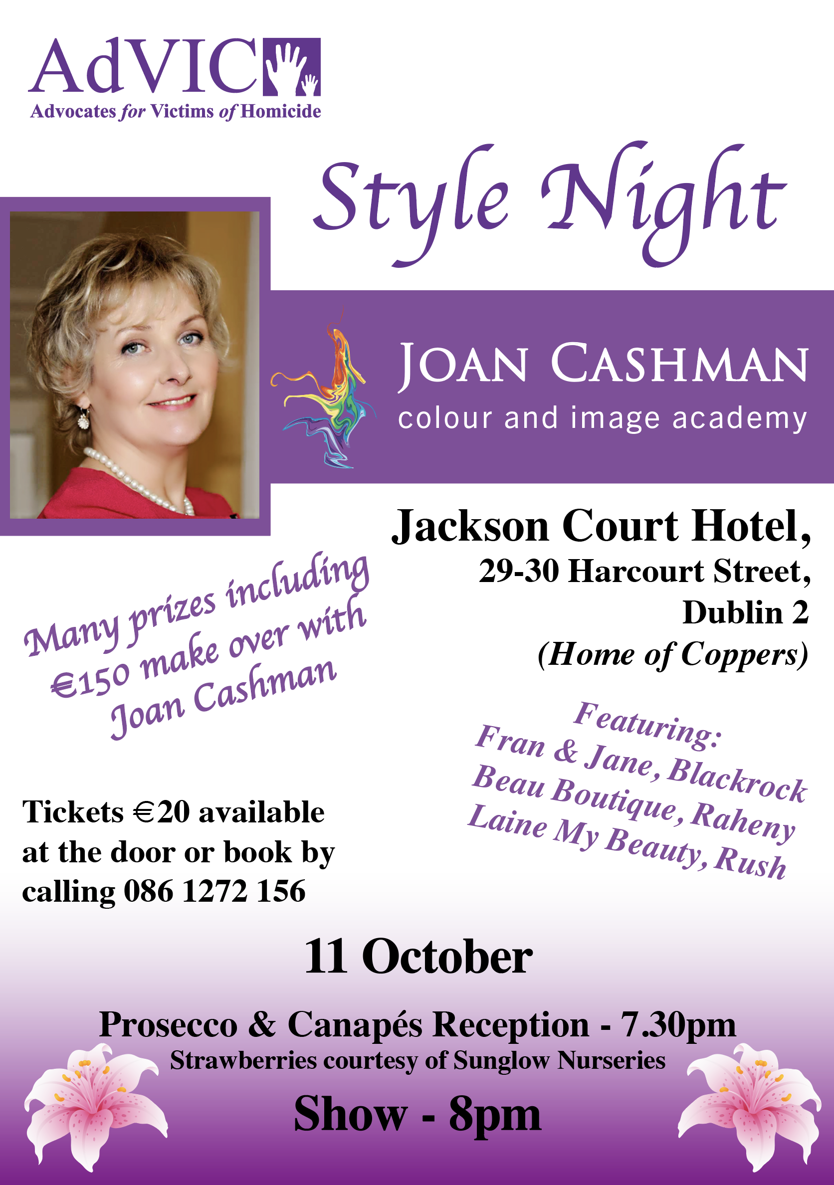 Style Night Fundraiser – October 11th @ 7.30pm